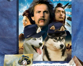 Siberian Husky Vintage Poster Canvas Print - Dances with Wolves Movie Poster   Perfect DOG LOVER GIFT Gift for Her Gift for Him Home Decor