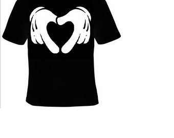 cartoon hands making heart Tshirts clothes T Shirts Tees, Tee T-Shirt design cool funny love hands heart