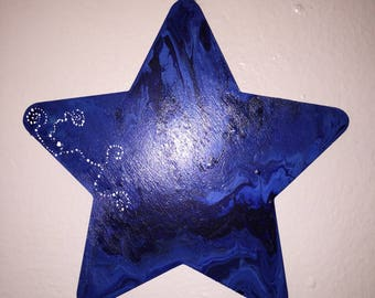 Acrylic Painted Hanging Star