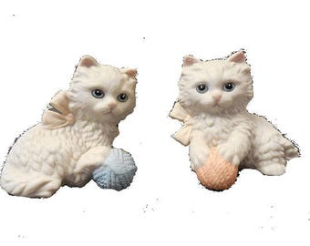 Set of 2 Kitten Figurines,  FREE SHIPPING