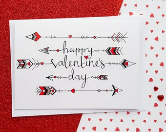 Valentine's Day Card Cupid's Arrows   Valentines Card, Girlfriend Valentines, Boyfriend Valentines, Wife Valentines, Husband Valentines
