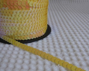 5 Yards Yellow Sequin Trim - 17