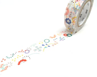 Fun and Colorful Washi Tape by MT Japan, 15mm x 10m