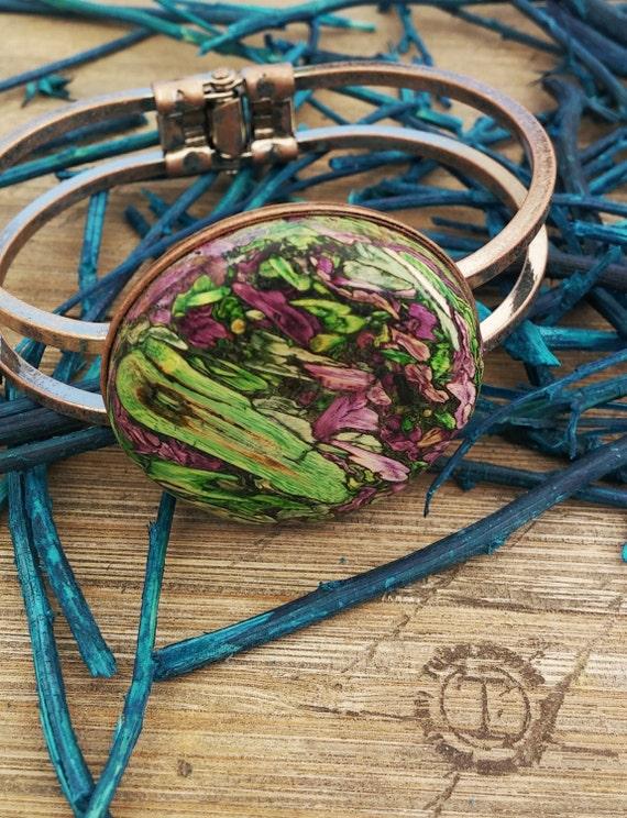 Copper Tumbleweed Hinged Bracelet