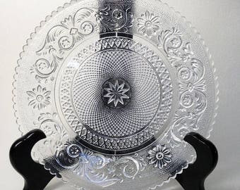 Lovely French Vintage Glass Plate - Glass Dish