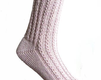 Socks Soft Pink, cotton, EU size 36/37 - UK 3.5/4.5 - US 5.5/6.5