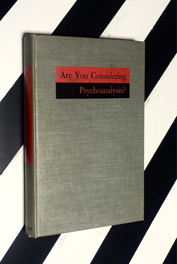 Are You Considering Psychoanalysis? Edited by Karen Horney, M.D. (1946) hardcover book