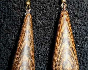 Bocote Earrings (Bocote is a wood indigenous to Honduras)