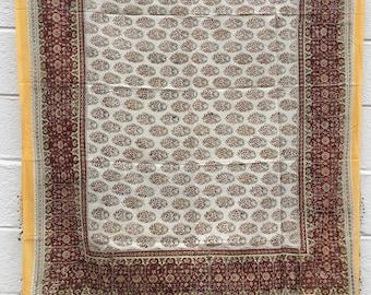Indian Block Print Floral Sarang / Scarf