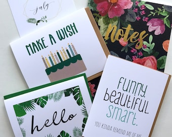 Mini Subscription - Greeting Cards - stationery items - Stationery Box Subscription - Subscription Gift - Stationery Gift - Monthly