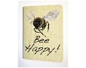 Bee Happy Blank Journal