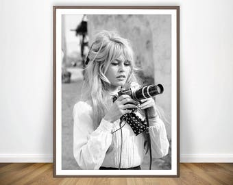 Brigitte Bardot Print Fashion Photography Print Brigitte Bardot Poster Black and White Print Photo Vintage French Poster Brigitte Bardot Art