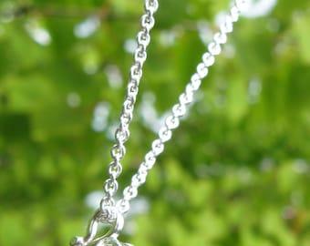Tiny Pitcher Plant Sterling Silver Necklace