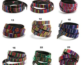 1 m + 1 m (free) cord/thong ethnic weaving dish/leather 12 x 2 mm, 9 patterns to choose from