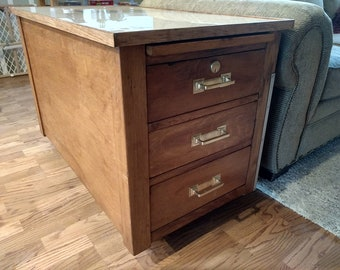 End Tables Repurposed from Mid Century Desk - Colorado only