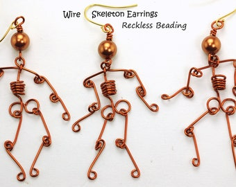 Wire Skeleton Earrings Tutorial