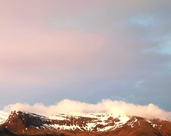 Iceland, mountains and pink