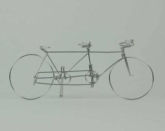 Tandem Bike Ornament or Wedding Cake Topper