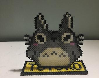 Totoro & stand Perler Art