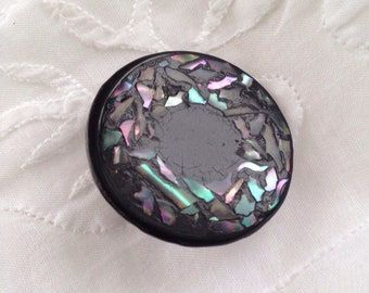 Abalone inlaid composition button