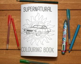 Supernatural Colouring Book