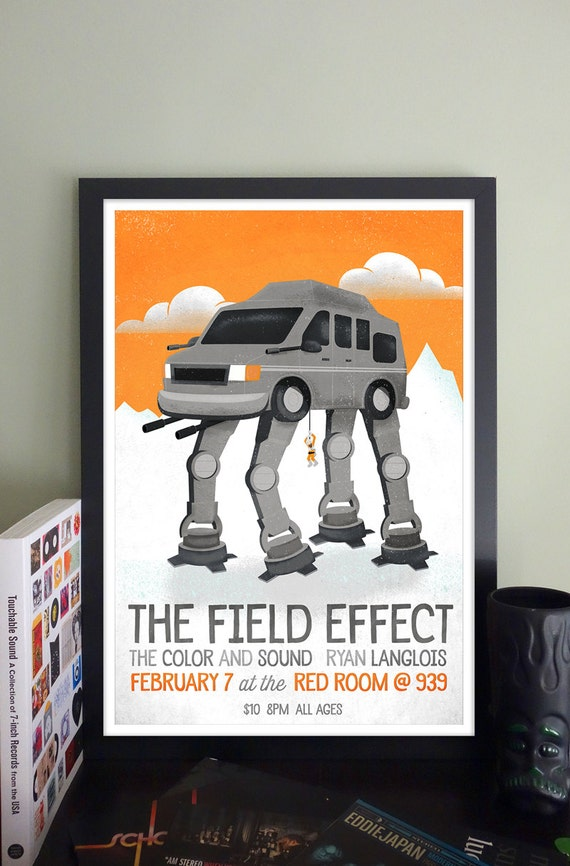 The Field Effect Gig Poster // The Red Room, Boston