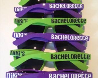 Personalized Sunglasses, Bachelorette party, Wedding Party Favors, Custom Sunglasses, Bachelorette Favors, Bridal Party Favors