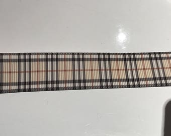 Grosgrain Pink Ribbon 2 cm width tiles capucchino