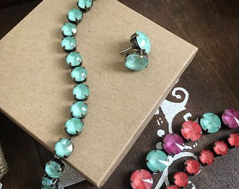 Swarovski Crystal Bracelet in Mint