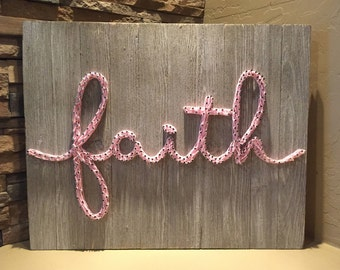 Faith Nail and String Art