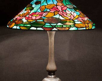 Table Lamp, Tiffany Lamp, Lily Lamp, Waterlily, Stained Glass Lamp, Bedside Lamp, Desk Lamp, Standing Lamp, Home Decor, Lighting