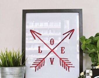 Love Arrow Wall Art - Digital Download - Printable Wall Art