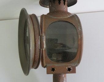 Antique french lantern carriage, buggy lantern, hanging candle lantern