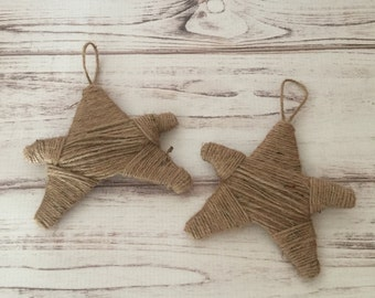 Twine Star Ornament, Star Ornament, Primitive Ornaments, Twine Ornaments, Rustic Christmas Ornament, Christmas Decorations, Gift For Her