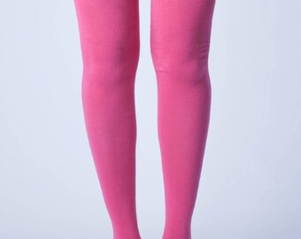Pink Thigh High Socks