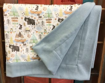 Woodland Camping Child Blanket