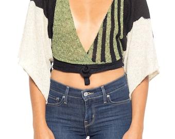 1970s Wrap Sweater Size: 4