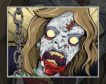 Sister Print // Evil Dead // Ash Williams // Army of Darkness // Deadites // Horror Art // Horror // Zombie // Bruce Campbell