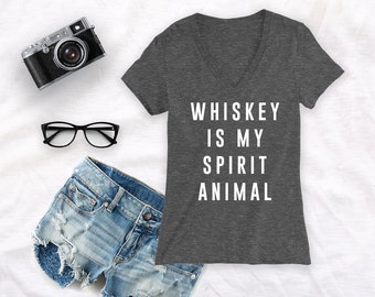 Whiskey is my spirit animal shirt day drinking shirt day drinker shirt drinking shirt day drunk shirt