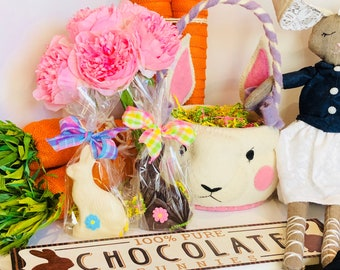 Girls easter gift etsy chocolate bunny chocolate easter bunny easter chocolate easter bunny girls easter gifts negle Image collections