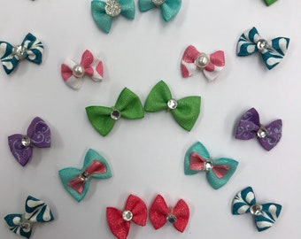 Dog hair bows/ear bows/collar bows