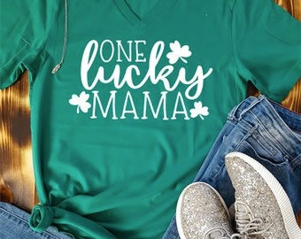 One Lucky Mama Shirt | Mom shirt | St Pattys Day Shirt | St Pattys Day Shirt For Mom | Mama Shirt | Lucky Mama Shirt | St Patricks Day Shirt