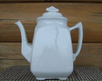 J G Meakin Ironstone Tea Coffee Pot Handley England