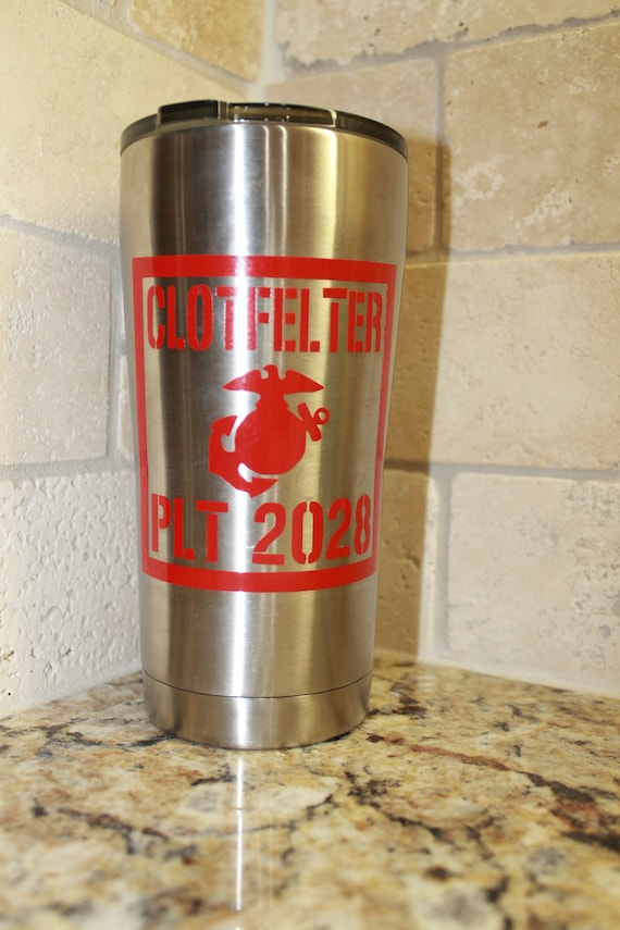 Bootcamp Graduation, Marine Corps Decal, Yeti decal, Marine decal, EGA Decal, USMC Decal, vinyl decal for tumbler cup,  vinyl stickers,