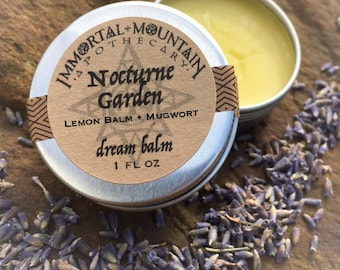 Nocturne Garden dream balm - mugwort lemon balm lavender herbal skin salve