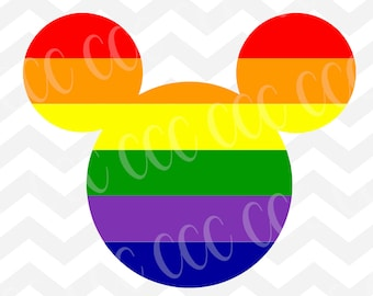 Mickey Mouse Rainbow SVG Cutting File