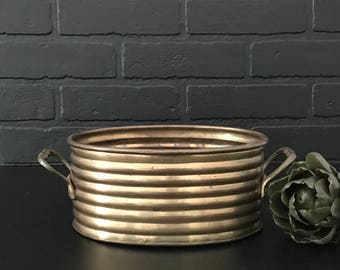 Brass Planter . Brass Decor . Fixer upper Decor . Boho Farmhouse . Gold . Succulent Planter