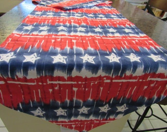 STARS and STRIPES, Table  Runner,  Red, White, and Blue