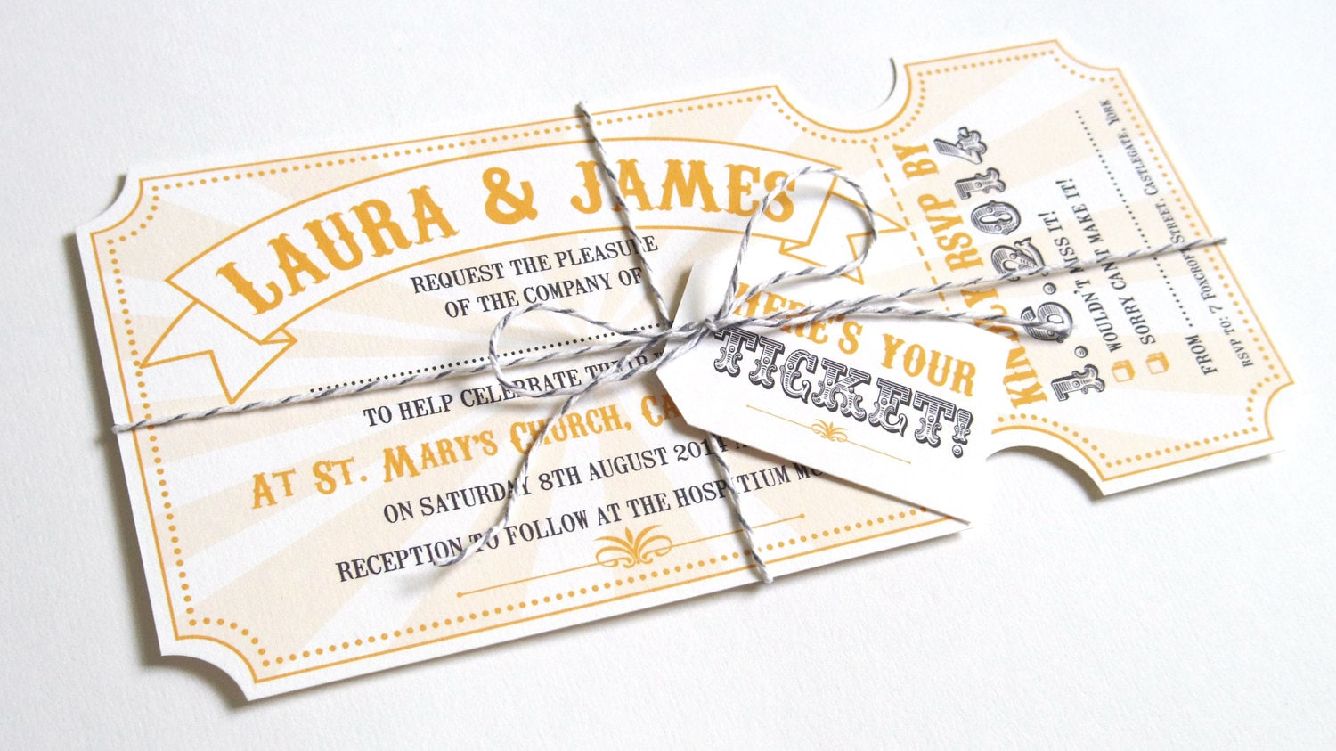 Circus Ticket Wedding Invitations Fun Fair Carnival