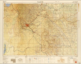 Poster, Many Sizes Available; Map Of Nairobi 1954